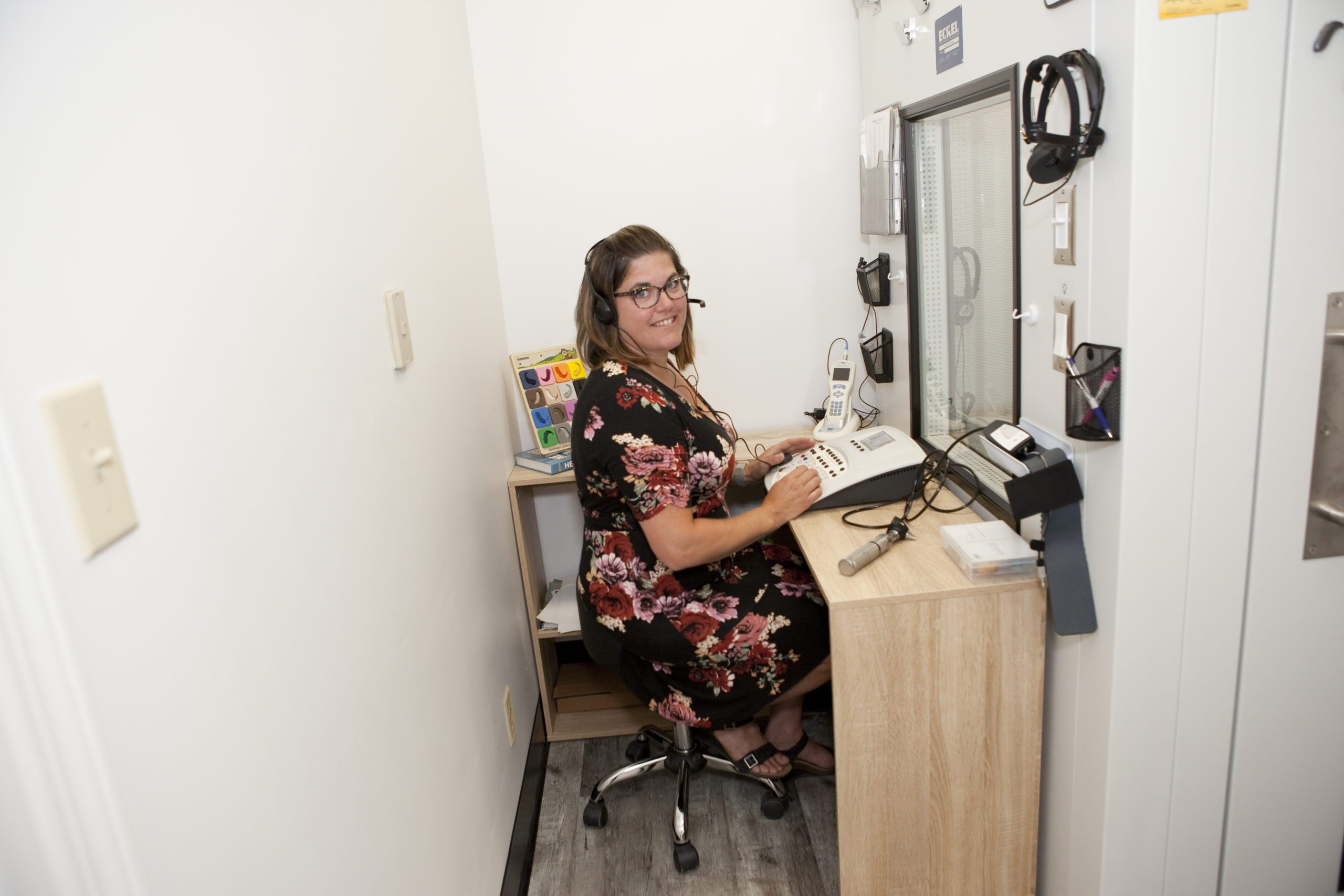 Candace Leake uses cutting edge equipment to properly and accurately diagnosis your hearing issues